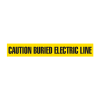 Caution: Buried Electric Line Barricade Tape