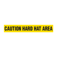 Caution: Hard Hat Area Barricade Tape