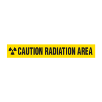 Caution: Radiation Area with Radiation Symbol Barricade Tape