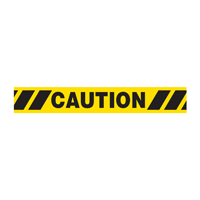 Caution with Hazard Stripes Barricade Tape