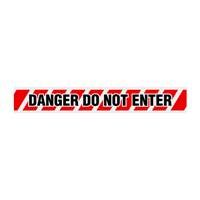 Danger: Do Not Enter with Warning Stripes Barricade Tape