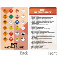 DOT Hazmat Guide Heavy-Duty Laminated Safety Wallet Card
