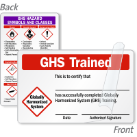 GHS Trained Certification 2-Sided Wallet Card