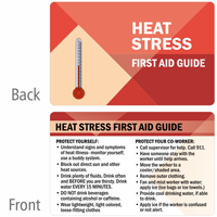 Heat Stress First Aid Guide Safety Wallet Card
