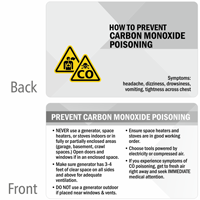 How To Prevent Carbon Monoxide Poisoning Wallet Card