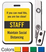 ID Reusable Name Badge - Staff