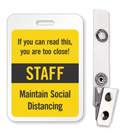 ID Reusable Name Badge - Staff