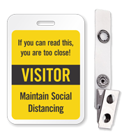 ID Reusable Name Badge - Visitor