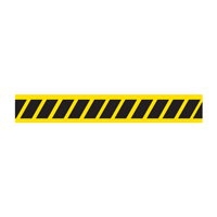 Yellow & Black Hazard Stripes Barricade Tape