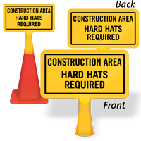 Construction Area Hard Hats ConeBoss Sign