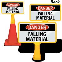 Danger Falling Material ConeBoss Sign