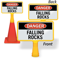 Danger Falling Rocks ConeBoss Sign