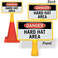 Danger Hard Hat Area ConeBoss Sign