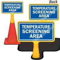 Temperature Screening Area ConeBoss Sign