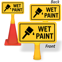 Wet Paint ConeBoss Sign