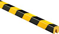 Edge Protection Bumper Guard Type G, Black-Yellow