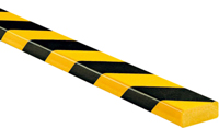 Surface Protection Bumper Guard Type D, Black-Yellow