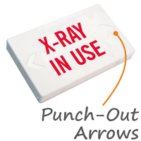 X-Ray In Use Exit Sign with Battery Backup