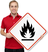 GHS Flammable Hazard ISO Sign