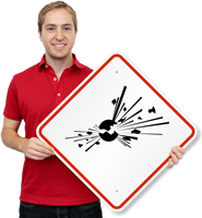 GHS Bomb Exploding Hazard Pictogram ISO Sign