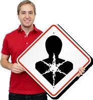 GHS Heart Light Health Hazard Pictogram ISO Sign