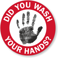 Did You Wash Your Hands? Hard Hat Decal