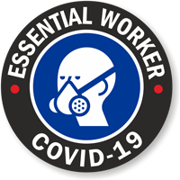 Essential Worker - Covid-19 Hard Hat Decal