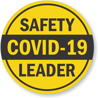 Safety Leader Yellow Hard Hat Label