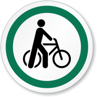 Bicycle Symbol ISO Circle Sign