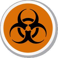 Biohazard Symbol ISO Circle Sign
