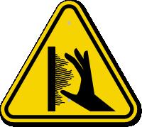 ISO Burn Hazard, Hot Surface Sidewall Symbol Sign