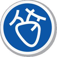 Cardiovascular Heart Symbol ISO Circle Sign