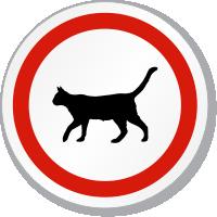 Cat Symbol ISO Circle Sign