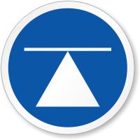 Center Of Gravity ISO Sign