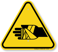 Chemical Burns Hazard Symbol, ISO Warning Sign