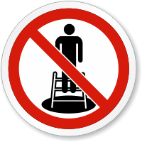 Do Not Enter Confined Space ISO Sign
