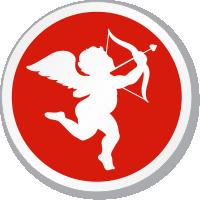 Cupid Xing Symbol ISO Circle Sign