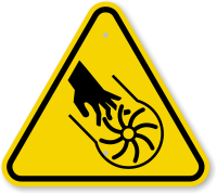 ISO Rotating Blade Symbol Warning Sign