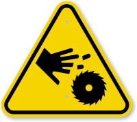 ISO Cutting Hand with Rotating Blade Symbol Sign