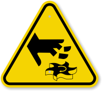 ISO Cutting of Fingers Rotating Blade Symbol Sign