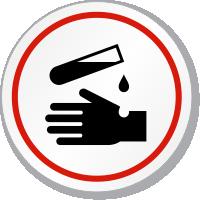 Danger Acid Symbol ISO Circle Sign