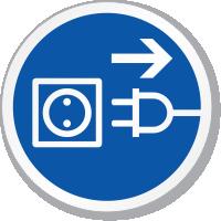 Disconnect Mains Plug Symbol ISO Sign