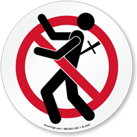 Do Not Backstab Graphic No Backstabbing Sign