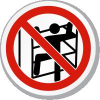 No Climbing ISO Sign