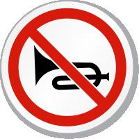 Do Not Honk Symbol ISO Prohibition Circular Sign