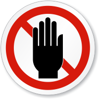 Do Not Obstruct ISO Sign