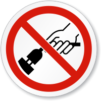 Do Not Remove Plug Symbol ISO Circle Sign
