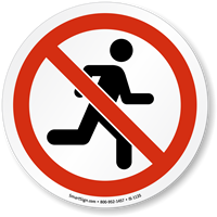 Do Not Run ISO Sign