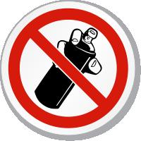 Do Not Spray ISO Sign