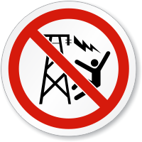 Don't Climb Electric Shock ISO Sign